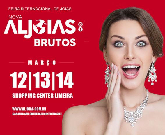 Aljoias Brutos tem início nesta terça-feira (12) no Shopping Center Limeira