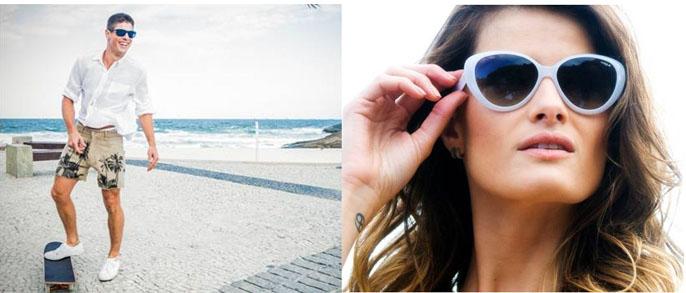 138ddba49 Modelos apresentam a linha de óculos Rio Summer Passion da Vogue Eyewear em  São Paulo e no Rio de Janeiro