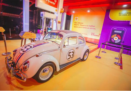 Herbie e DeLorean na pista do Jockey Club durante o Shell Open Air
