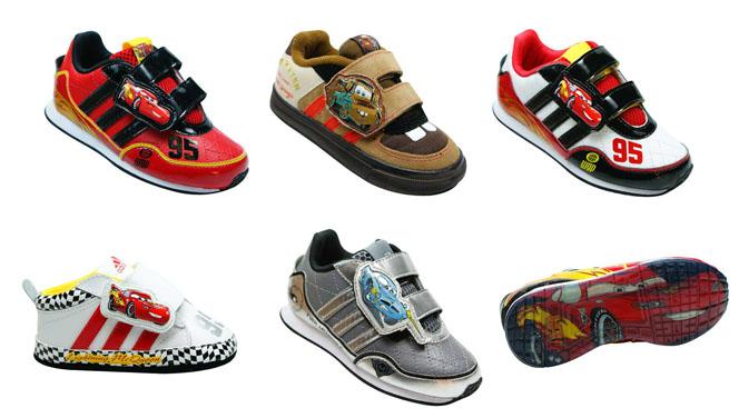 cf3012191a8 Magic Feet acaba de receber uma linha de tênis infantil inspirada no filme  Carros. Desenvolvida pela Adidas em conjunto a Disney