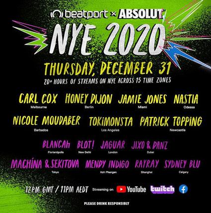 Absolut e Beatport lançam New Years Eve 2021