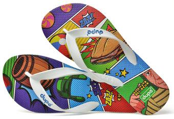 Dupé lança edição limitada de sandálias com estampas exclusivas do Chaves